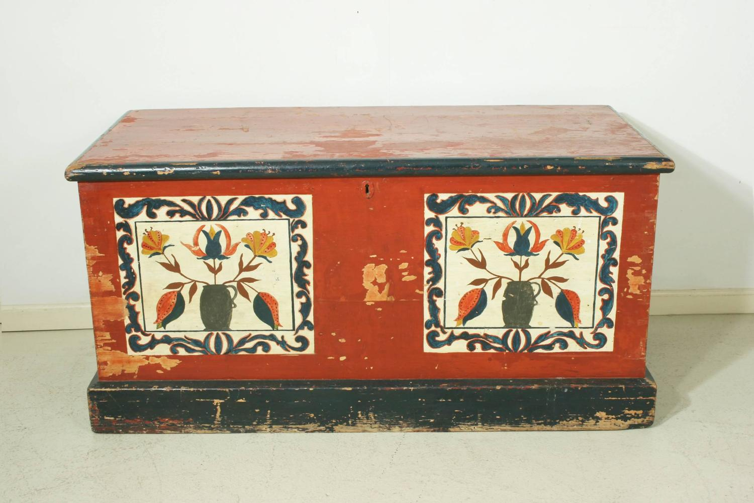 Hand Painted Chest Continental For Sale At 1stdibs