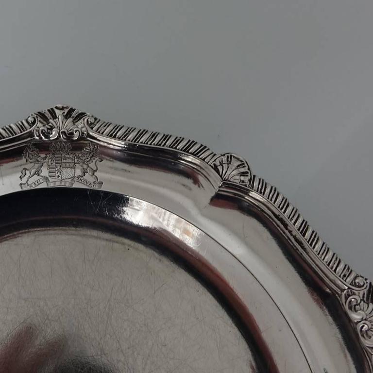 Set Of 12 Georgian Sterling Silver Dinner Plates London