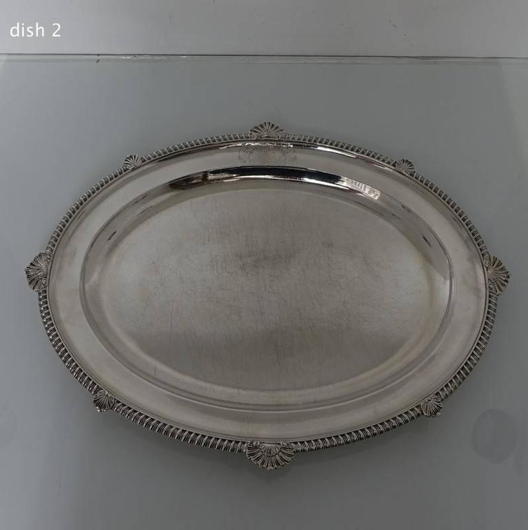 Set Of 12 Georgian Sterling Silver Dinner Plates London