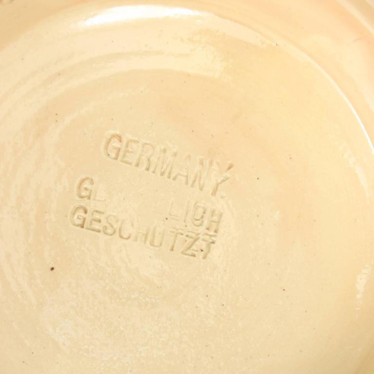 Antique Tennis Beer Stein, German Mettlach Type, 1914 In Good Condition For Sale In Oxfordshire, GB