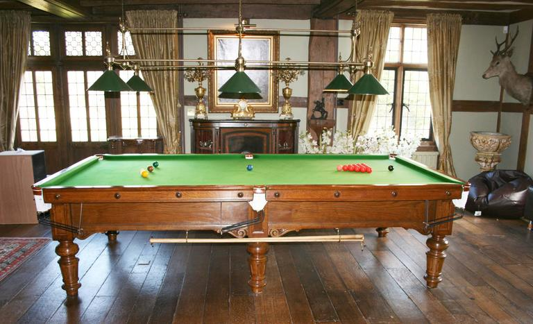 Burroughes and watts eureka snooker table at 1stdibs for 1 4 size snooker table