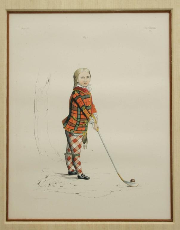 Antique Scottish Shooting Engraving of Sir James Macdonald, Boy with Gun For Sale 1
