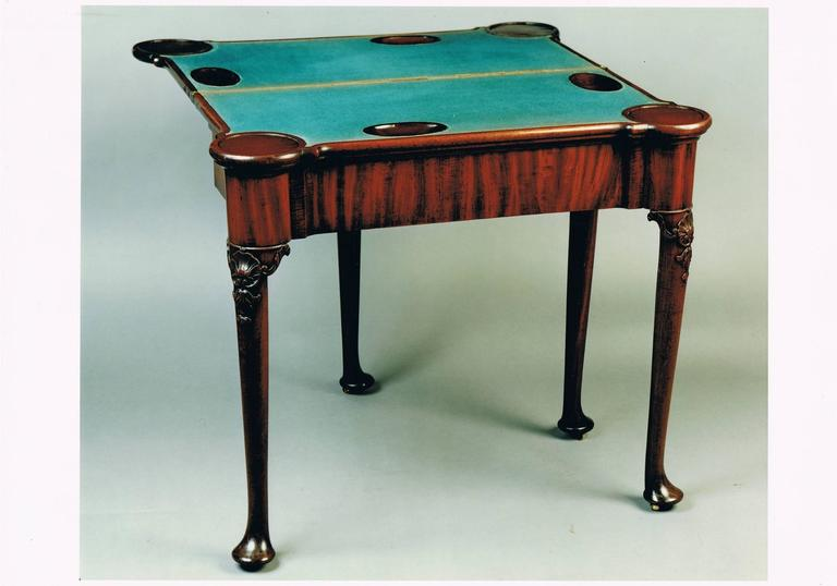 George II mahogany two-tier card table