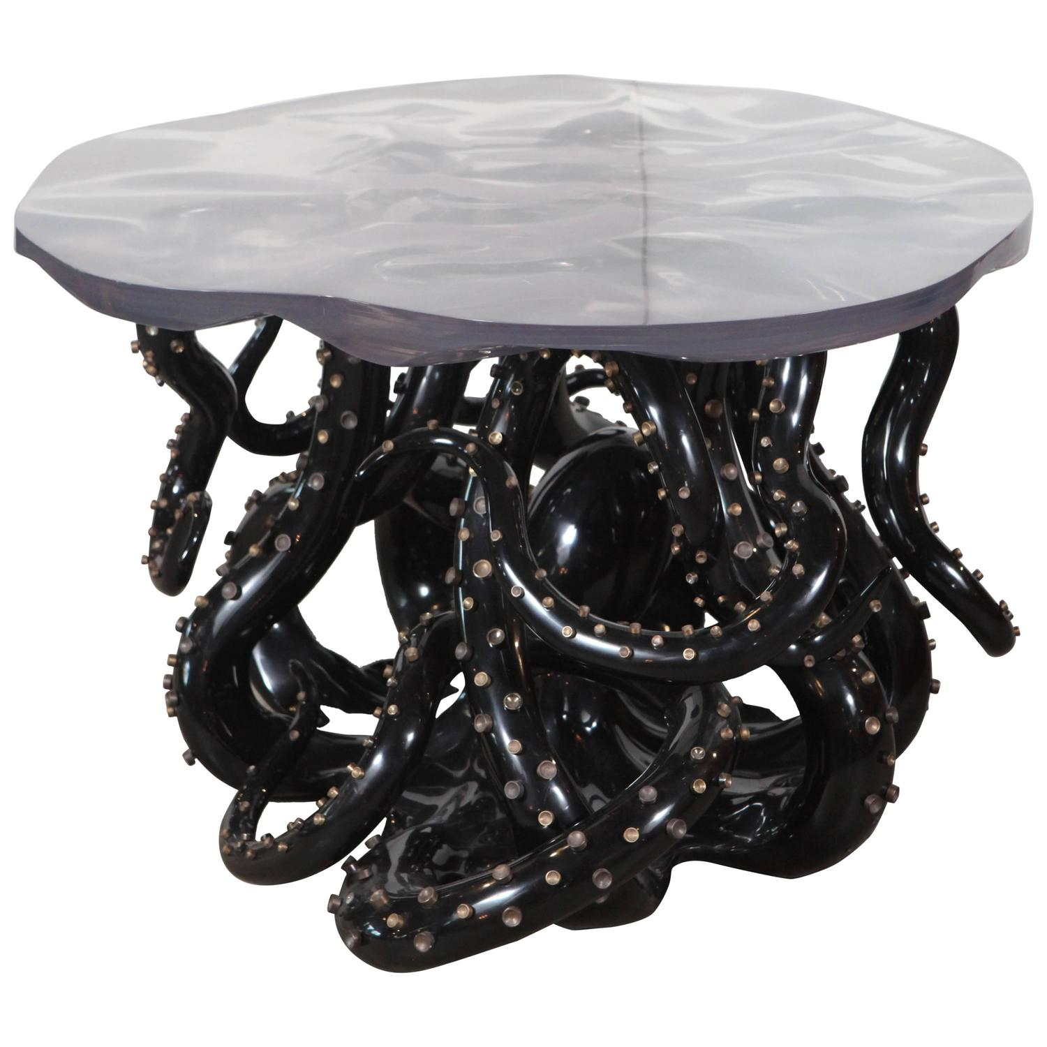 Black Octopus Table For Sale at 1stdibs
