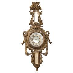Italian Giltwood Barometer