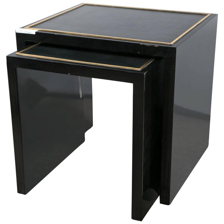 E J Victor Set of Lacquered Nesting Tables For Sale at 1stdibs