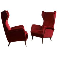 Pair of Armchairs Mod. 820 by Gio Ponti