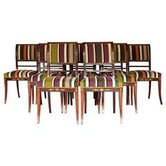 Set of Ten Early 19th Century Mahogany Scandinavian Dining Chairs