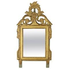Early Antique Gilded Wooden Miroir de Mariage