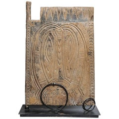 Primitive Borneo old  Barn Door as a Modern Sculpture- FINAL CLEARANCE SALE