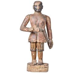 Antique wooden Indian Warrior Statue.. or Personal Guard!
