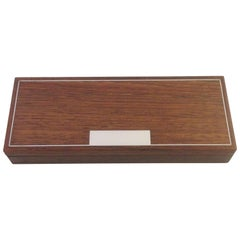 Hans Hansen Rosewood Box with Sterling Silver Inlay