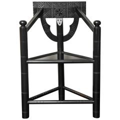 19th Century Ebonized Walnut Turner Chair