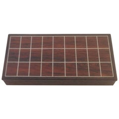 """Rosewood Box with Sterling Silver Inlay from """"Den Permanente"""""""
