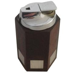 Hans Hansen Rosewood Lighter with Sterling Silver Inlay
