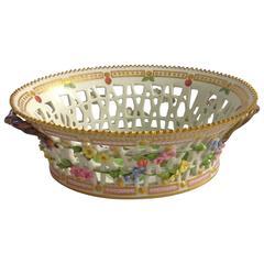 Antique Royal Copenhagen Flora Danica Fruit Bowl