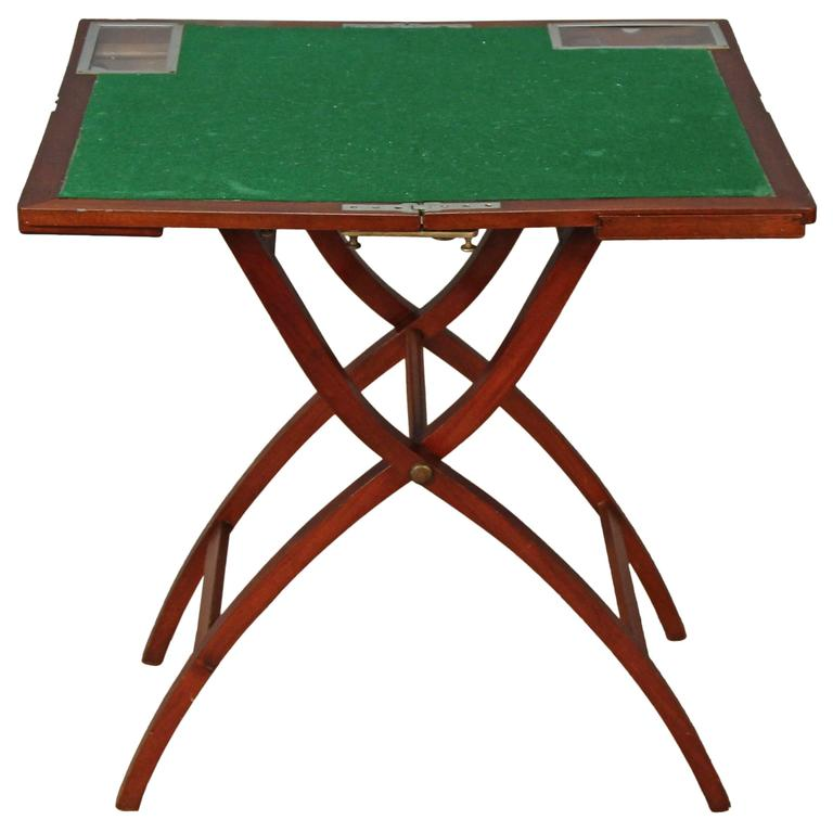 Folding Game Table By Kirby Beard U0026 Co For Sale