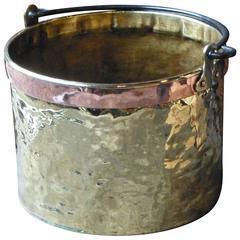 18th Century Brass and Copper Log Holder, Log Bin