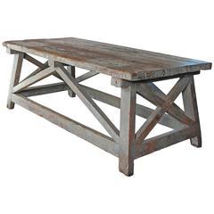 """Sculpture's Table"" Vintage Farmhouse Style as Work Table"