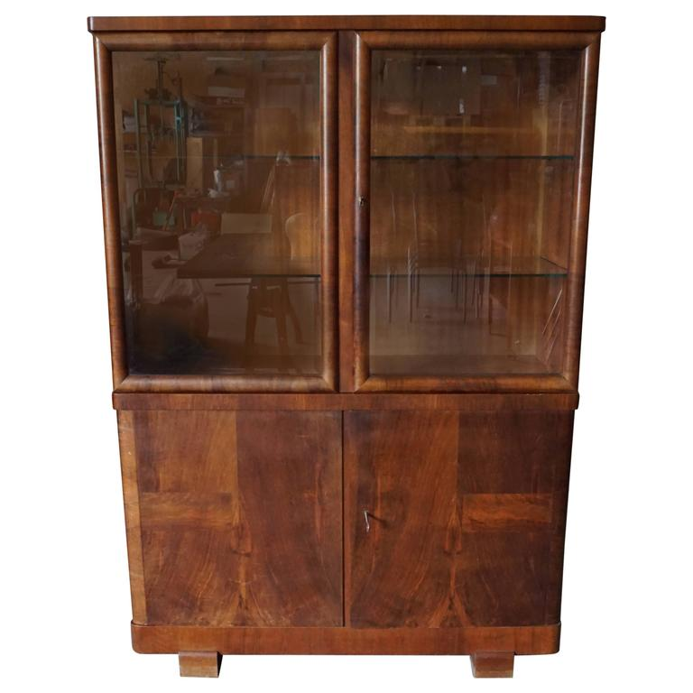 Art deco walnut doctor 39 s cabinet 1930s for sale at 1stdibs for 1930s kitchen cabinets for sale
