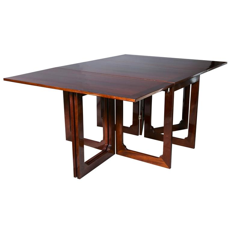 Dining Table With Drop Leaf On Both Sides At 1stdibs