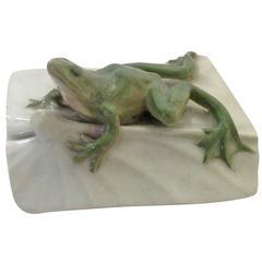 Royal Copenhagen Art Nouveau Frog Paperweight