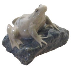 Royal Copenhagen Art Nouveau Paperweight with Frog