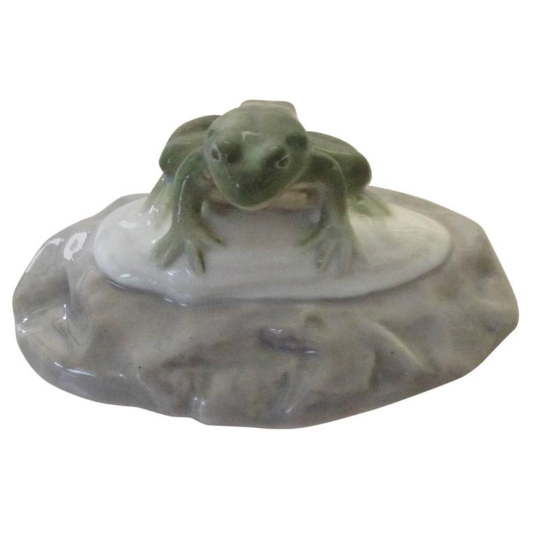 Royal Copenhagen Art Nouveau Paperweight with Frog For Sale