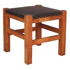 Small Arts & Crafts Foot Stool by Barber Bros