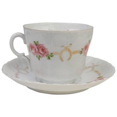 English Rare Vintage Tea Cup for Mustache