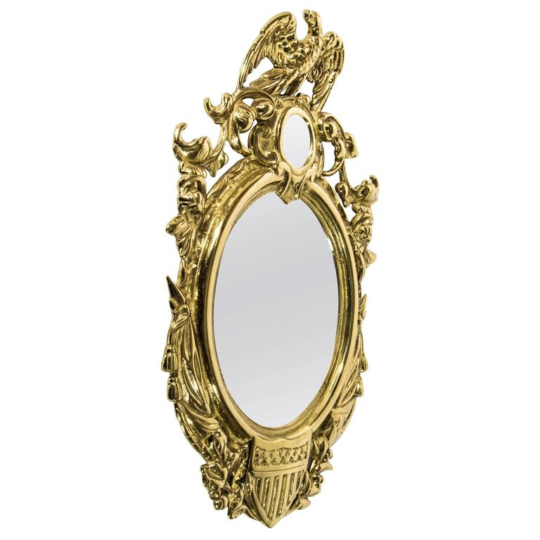 Antique Brass Wall Mirror For