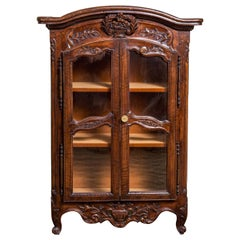 Miniature Louis XV Style Walnut Armoire, 19th Century