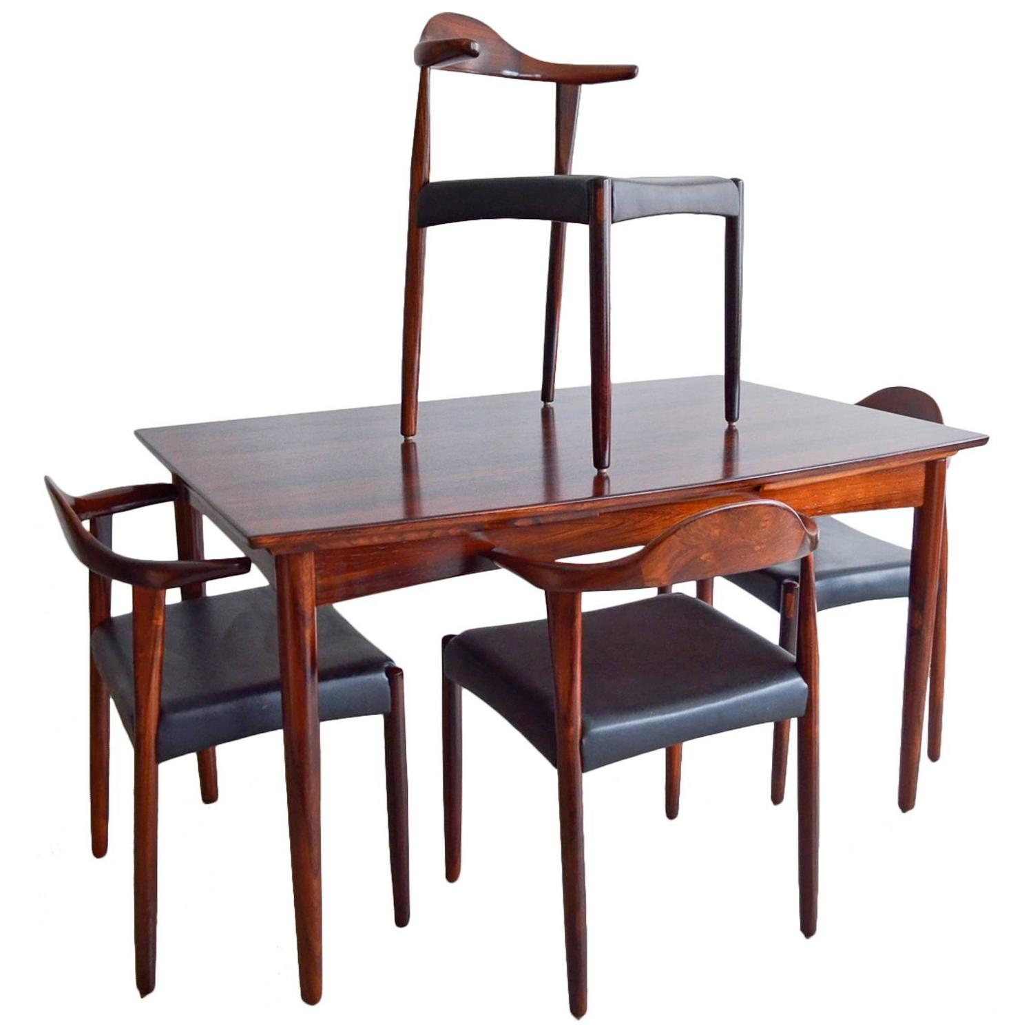 Exceptional Sculpted Rosewood Dining Set By Harry Ostergaard At 1stdibs