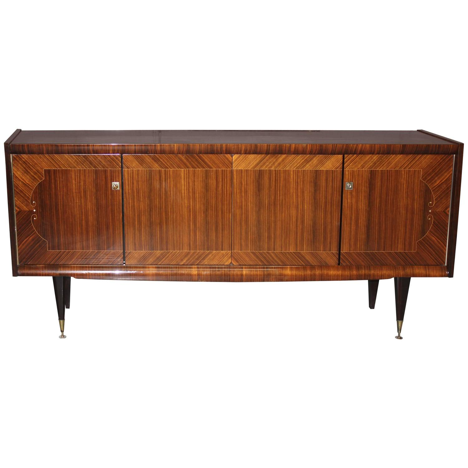 french art deco sideboard buffet macassar ebony with mop. Black Bedroom Furniture Sets. Home Design Ideas