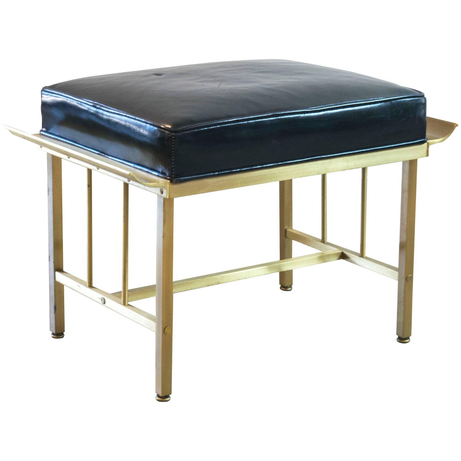 Mastercraft Brass Vanity Stool At 1stdibs