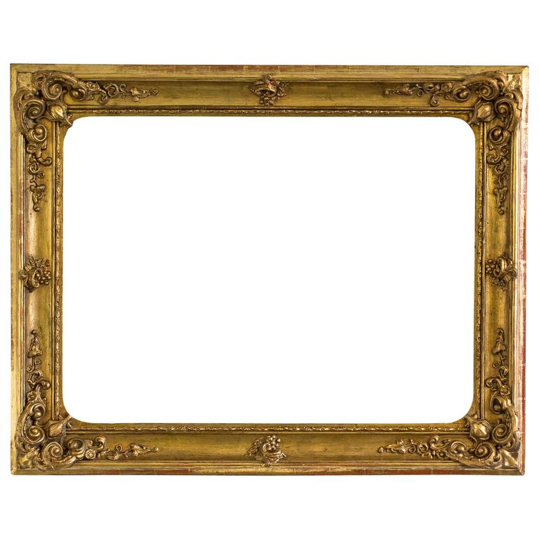 Large Gilded Baroque Picture Frame, Austria, circa 1840 at 1stdibs