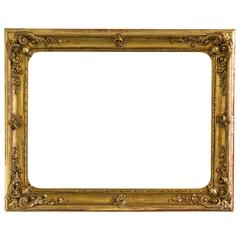 Large Gilded Baroque Picture Frame, Austria, circa 1840