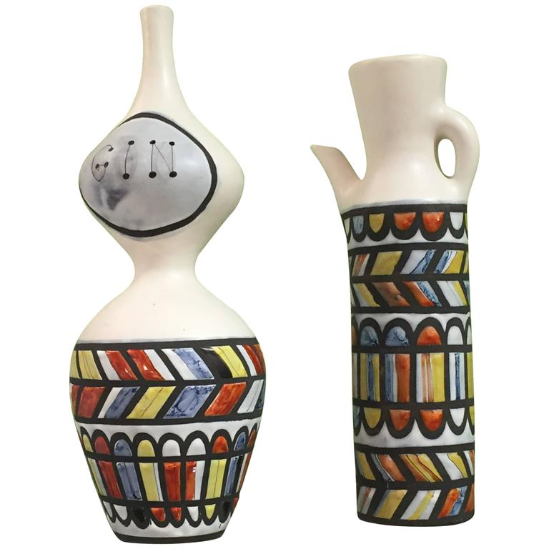 Vintage Ceramic Pitchers by Roger Capron For Sale