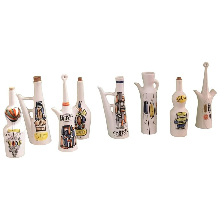 Vintage Ceramic Pitchers by Roger Capron 1