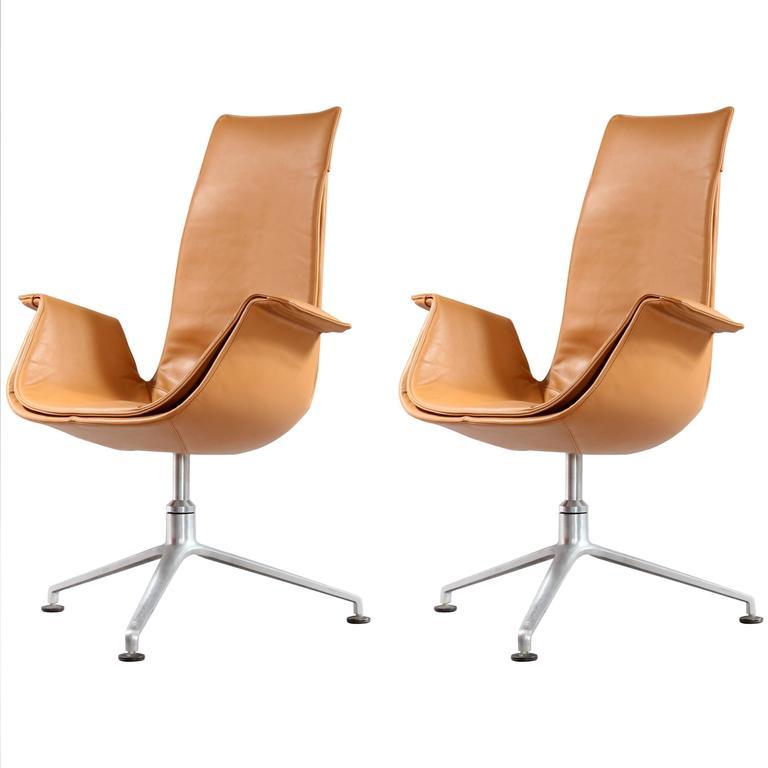 Pair of FK 6725 Tulip Chairs by Preben Fabricius & Jorgen Kastholm