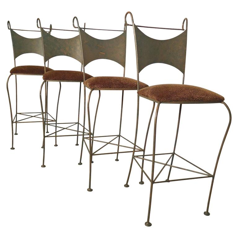 Four Shaver Howard Bar Stools At 1stdibs