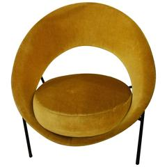 Vintage Saturne Armchair by Geneviève Dangles and Christian Defrance