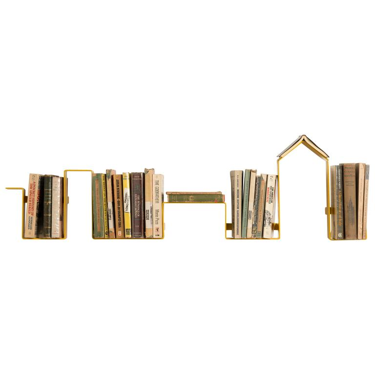 Linea Bookshelf Designed by Antigone Acconci, Available in Five Colors For Sale