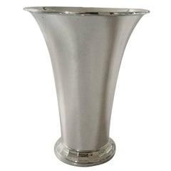 Georg Jensen, 1920s Hammered Sterling Silver Vase