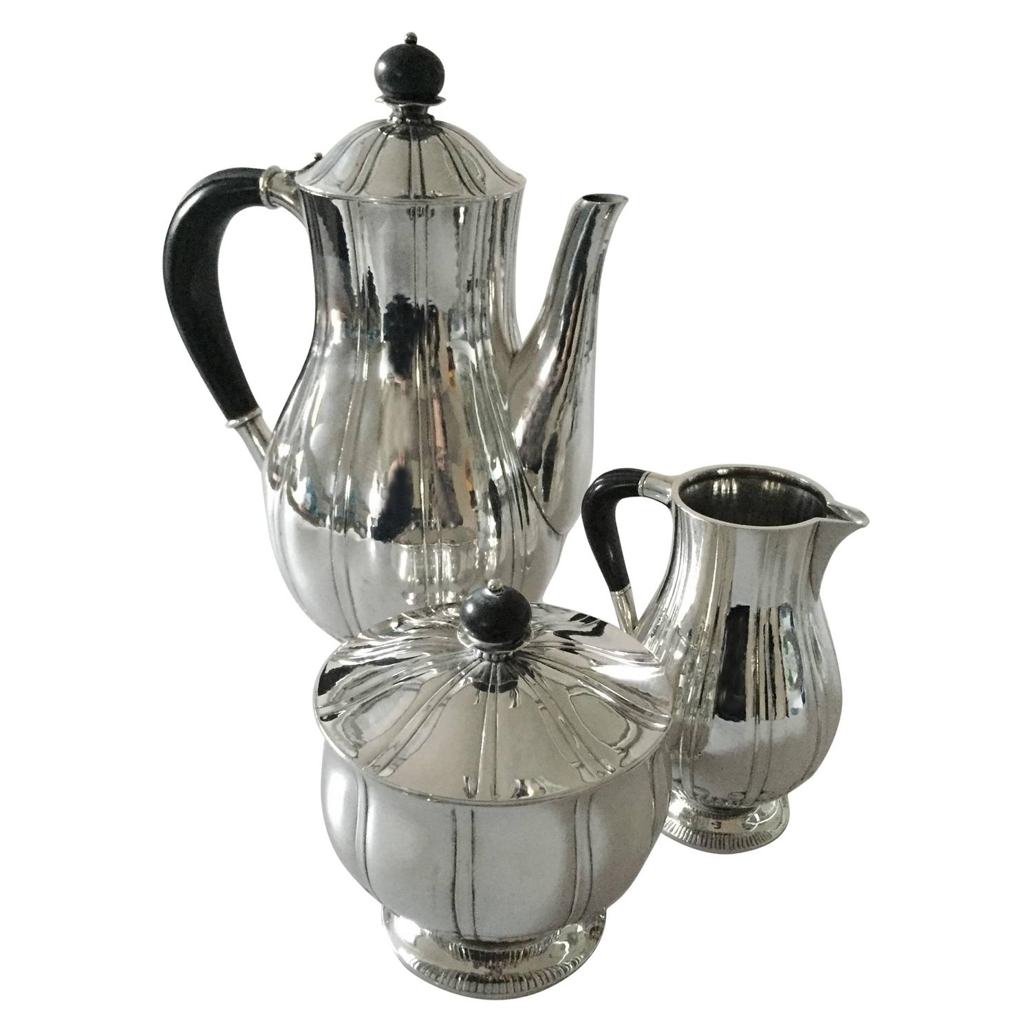 Georg Jensen Sterling Silver Coffee Set For Sale At 1stdibs