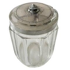 Georg Jensen Crystal Jar with Sterling Silver Lid #486
