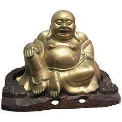 Buddha on a Wooden Pedestal