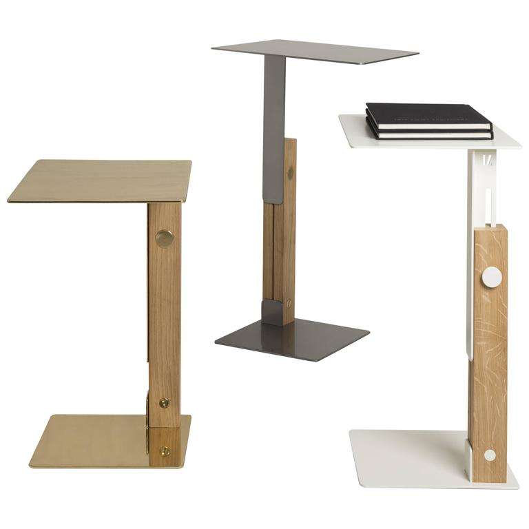 Superbe Slide Table Adjustable Side Table Designed By Omri Revesz For Sale