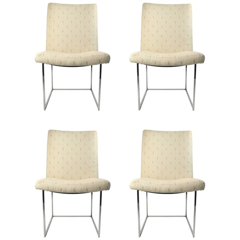 Four Milo Baughman Side Chairs