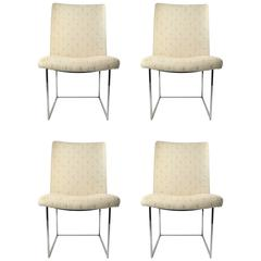 Four Milo Baughman Side Chairs